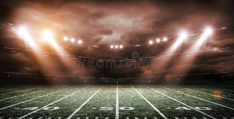 Amerykański stadium piłkarski, 3d rendering ilustracji