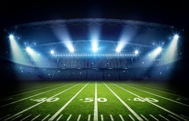 Amerykański stadium piłkarski, 3d rendering ilustracja wektor