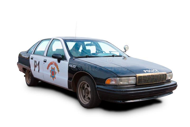 Amerykański Stary samochód policyjny fotografia stock
