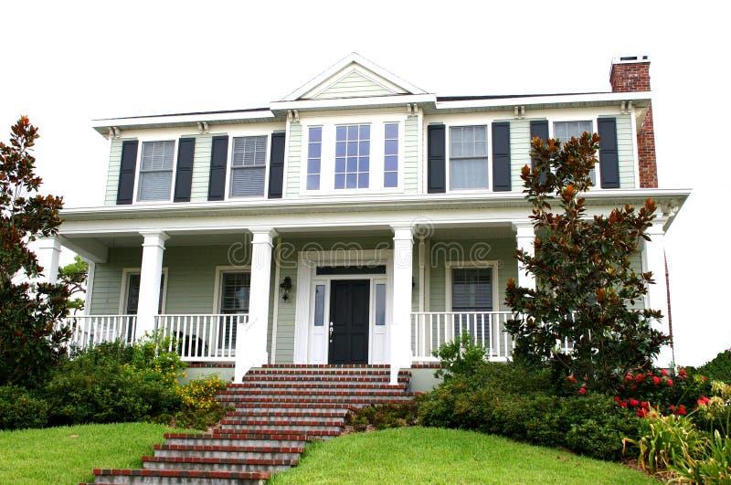 amerykański styl tradycyjne domu zdjęcie stock