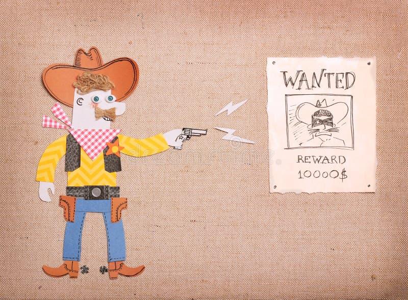 Amerykański szeryf i chcieć plakat ilustracji