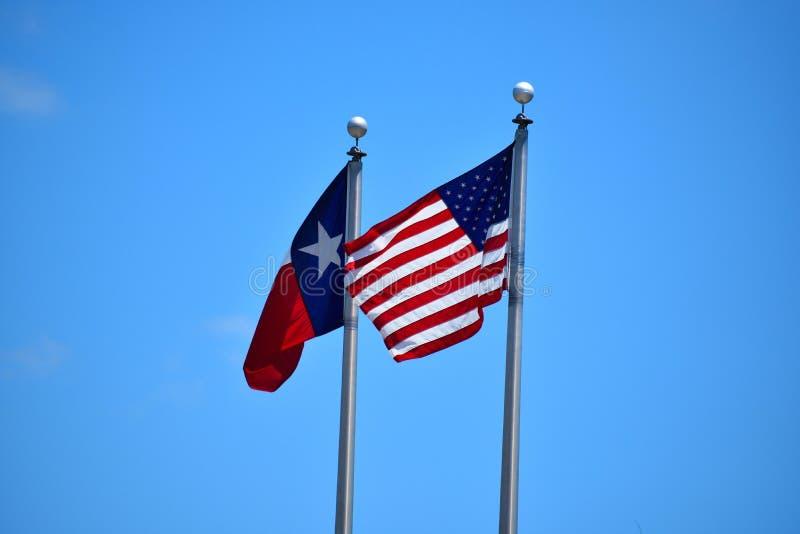 amerykański Texasu flagę obrazy stock