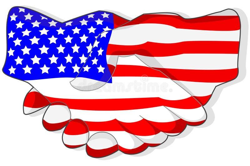 amerykański uścisk dłoni ilustracja wektor
