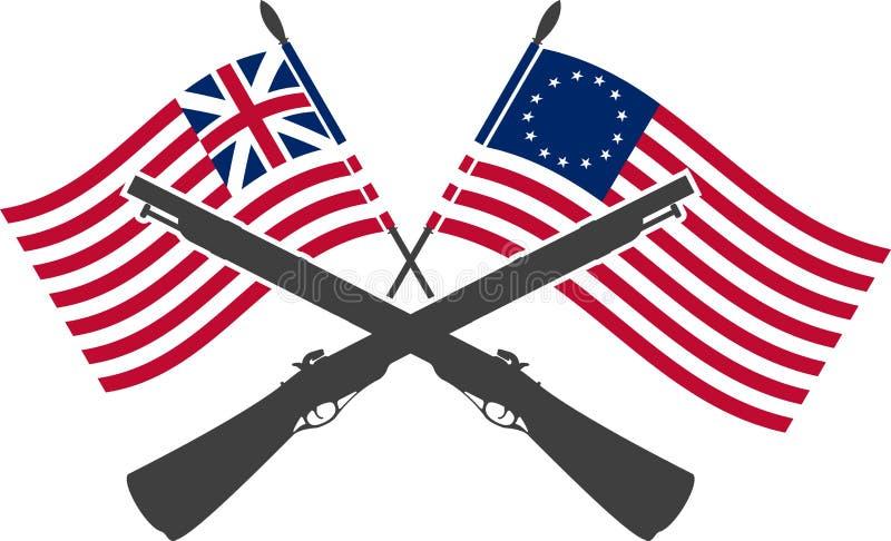 Amerykański wojna o niepodległość royalty ilustracja