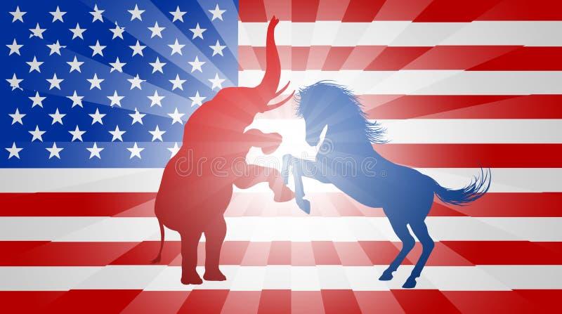 Amerykański wybory pojęcie ilustracja wektor