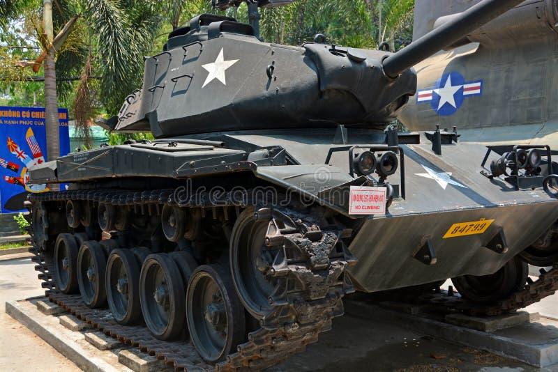 Amerykański zbiornik na pokazie przy Wojennymi szczątkami Muzealnymi zdjęcie royalty free