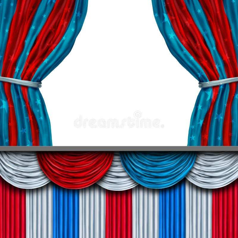Amerykańskich polityka Pusta scena ilustracja wektor