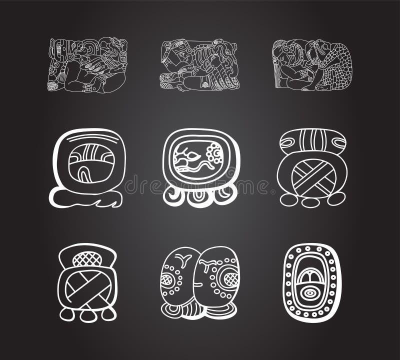 Amerykańskich rodzimych hindusów etniczni ornamenty royalty ilustracja