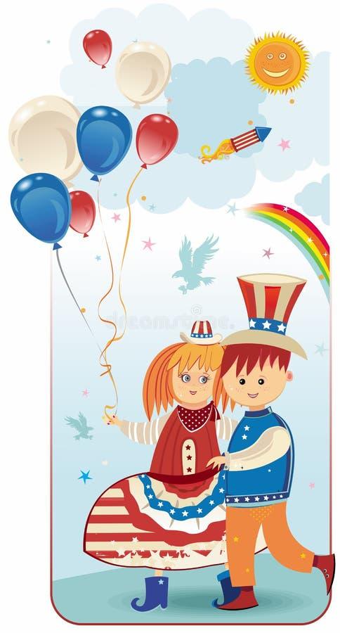 amerykańskie dzieciaki ilustracji