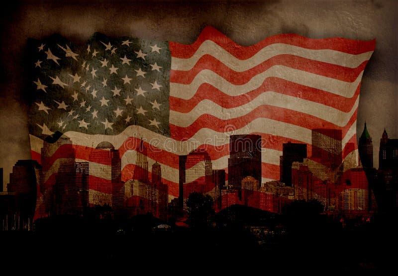 amerykańskie miasta nowego jorku ilustracja wektor