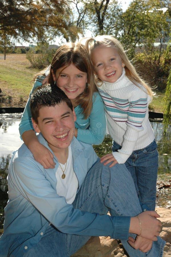 amerykańskie rodziny dzieci obraz stock