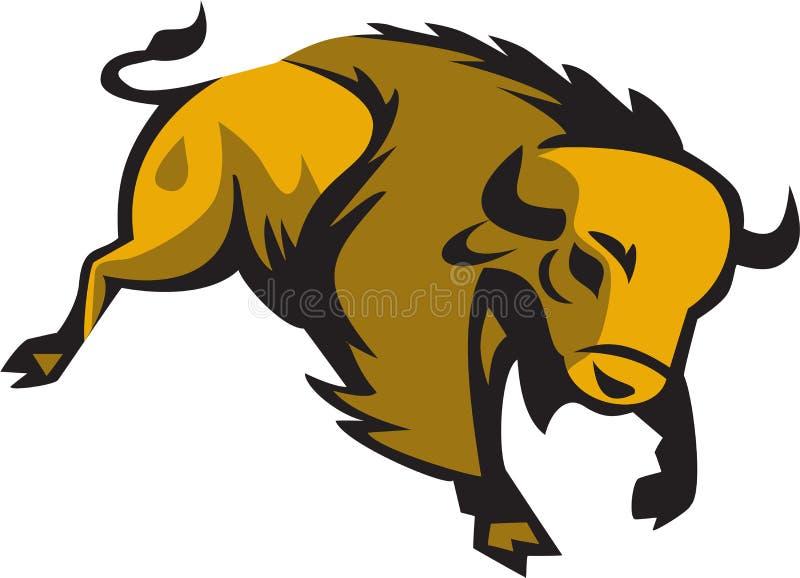 Download Amerykańskiego żubra Ładować Retro Ilustracja Wektor - Ilustracja złożonej z bizon, retro: 65225945