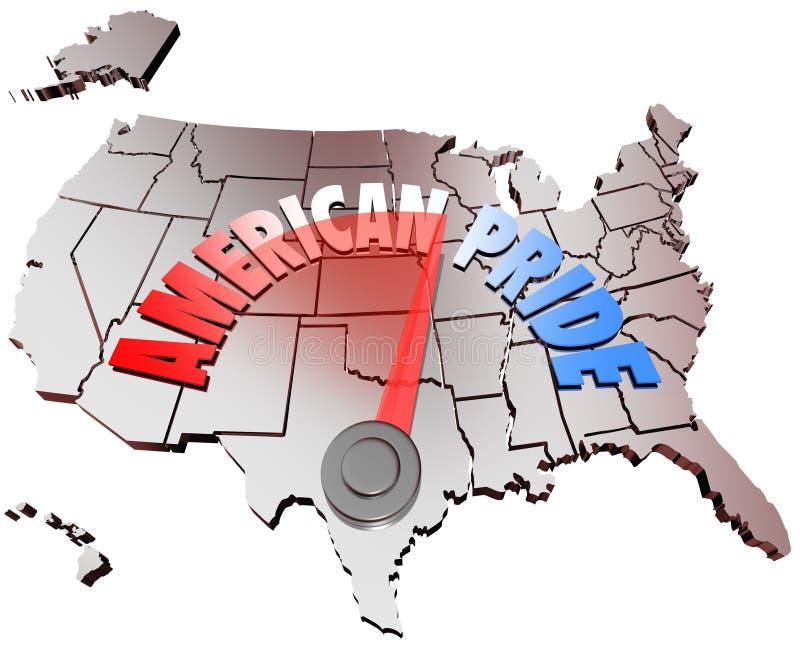 Amerykańskiego duma kraju Krajowy patriotyzm Stany Zjednoczone royalty ilustracja
