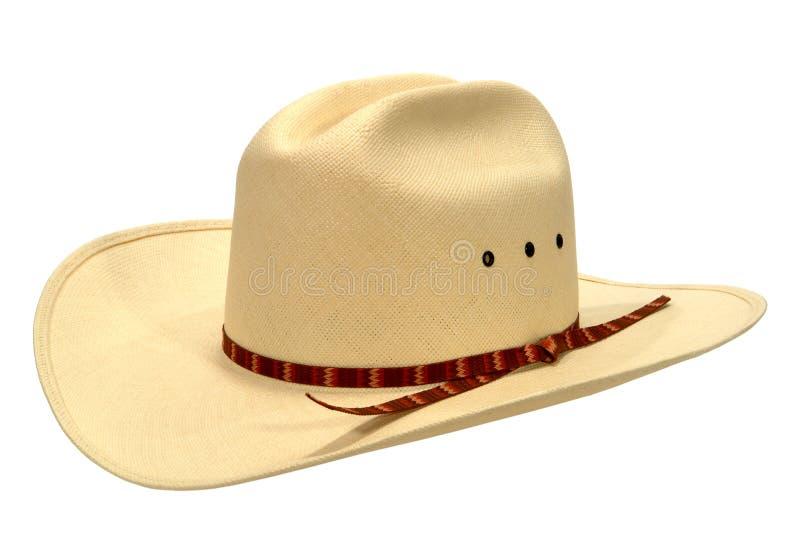 amerykańskiego kowbojskiego kapeluszu odosobniona rodeo słoma zachodni zdjęcie royalty free