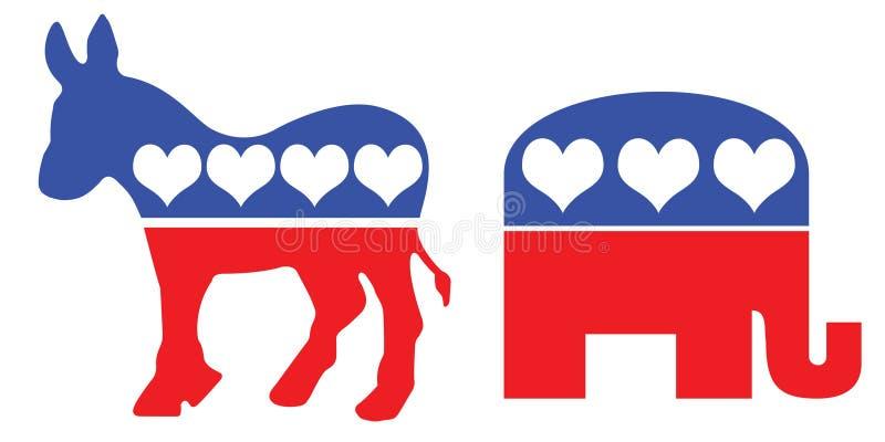amerykańskiego przyjęcia polityczni symbole ilustracji