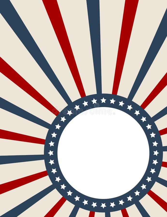 amerykańskiego tła patriotyczny rocznik royalty ilustracja