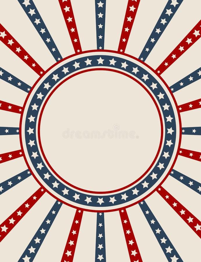 amerykańskiego tła patriotyczny rocznik ilustracji