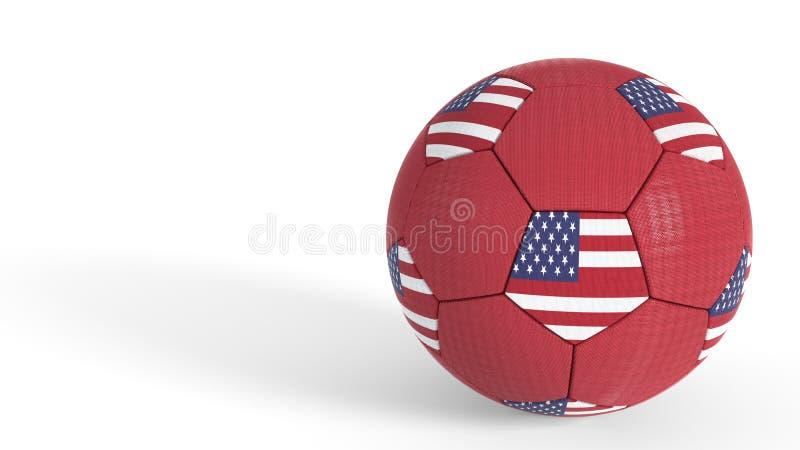 Amerykańskiej piłki nożnej mistrzostwa światowy pojęcie, 3d rendering ilustracja wektor