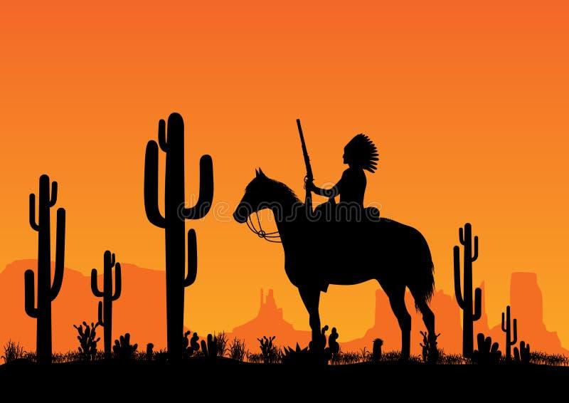 amerykańsko-indiański lider royalty ilustracja