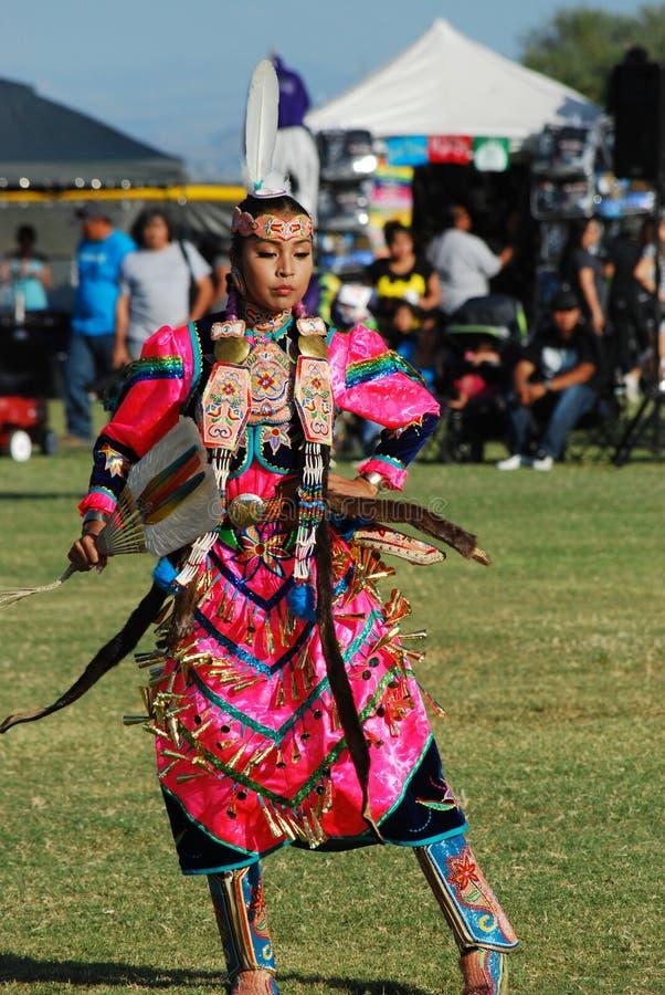 Amerykańsko-indiański Pow no! no! fotografia stock