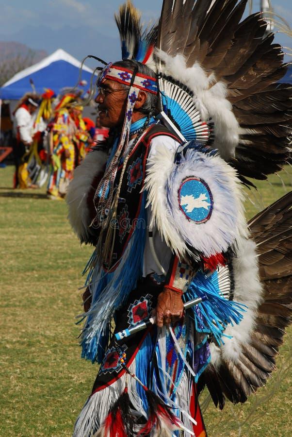 Amerykańsko-indiański Pow no! no! obraz stock