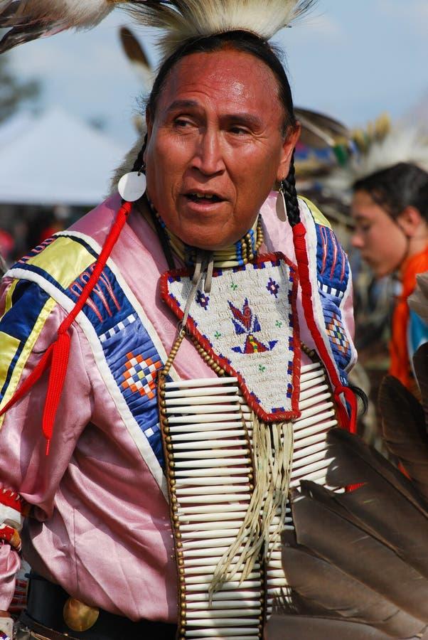 Amerykańsko-indiański Pow no! no! zdjęcie stock