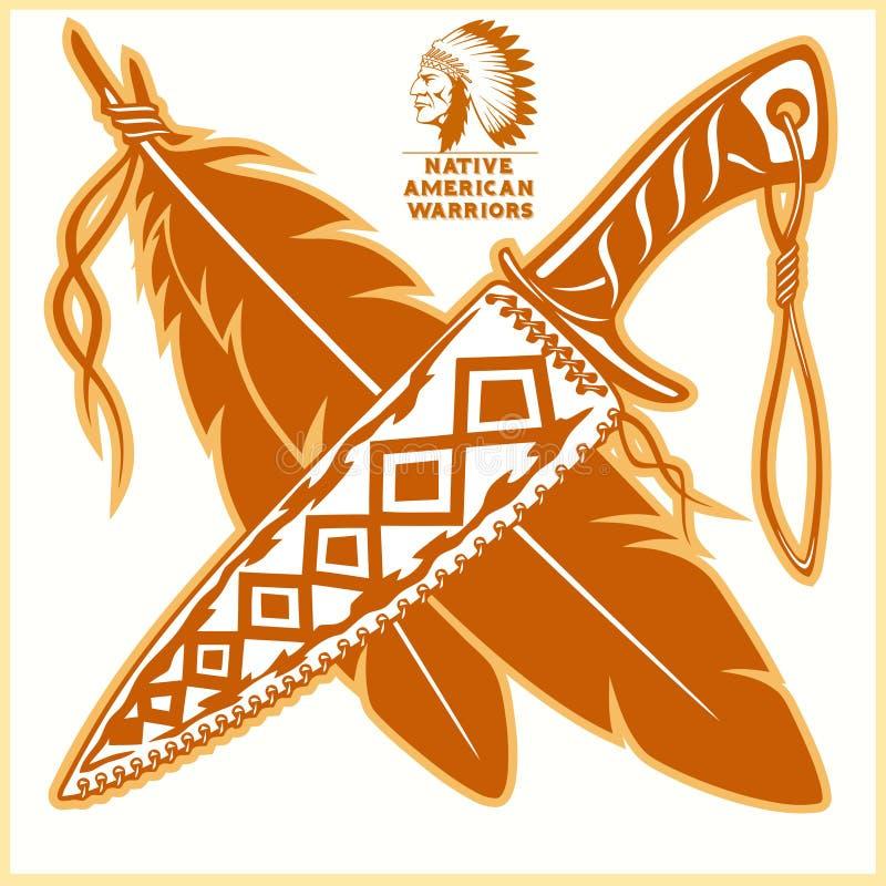 Amerykańsko-indiański wektorowi logowie ilustracja wektor