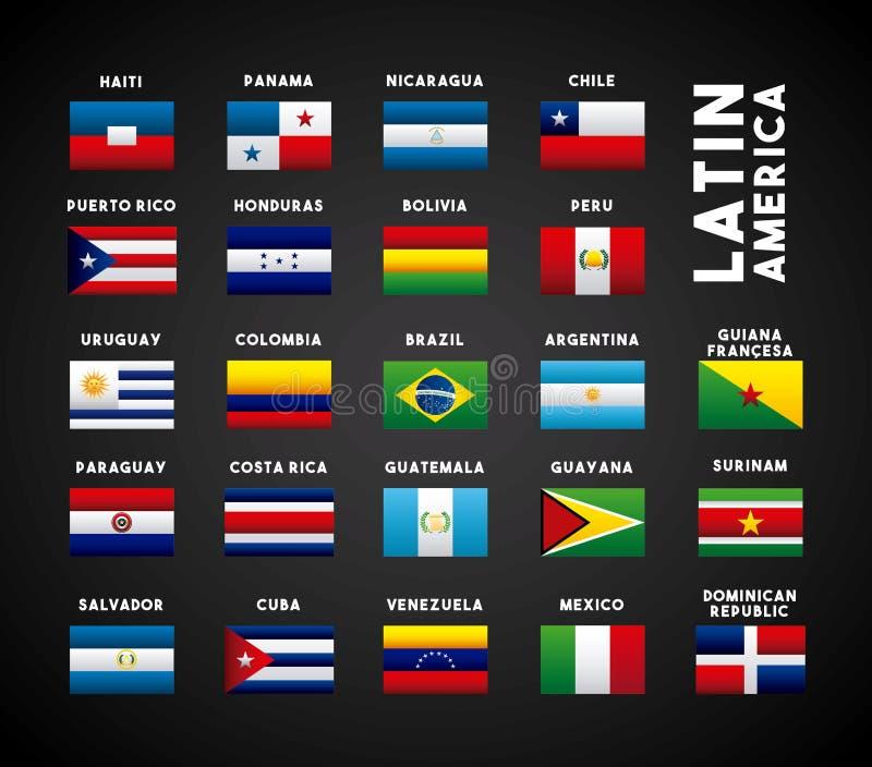 ameryka łacińska kraje royalty ilustracja