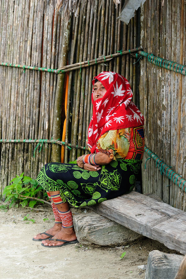 Ameryka Środkowa, Panama, tradycyjni Kun ludzie zdjęcie royalty free