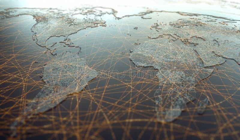 Ameryka Afryka Europa Technologia cyfrowa Łączność w sieci WWW obrazy royalty free
