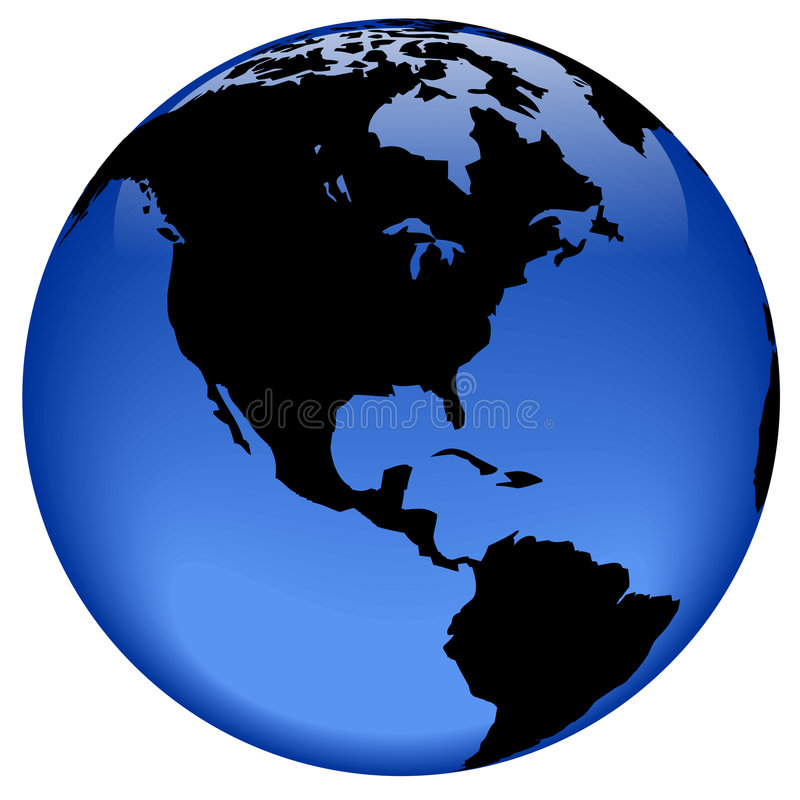 ameryka globe widok royalty ilustracja