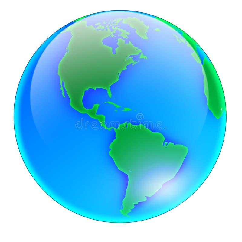 ameryka globu bez cienia ilustracji