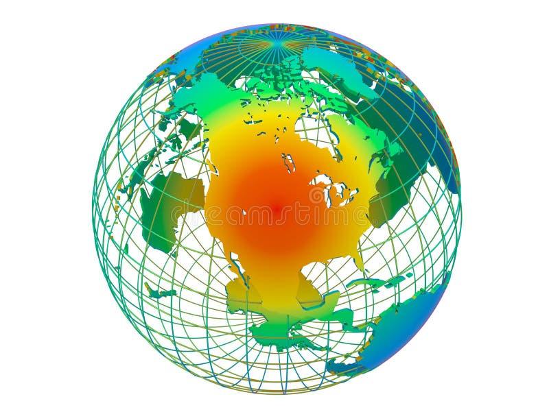 Ameryka klimatu gorący pojęcie ilustracja wektor