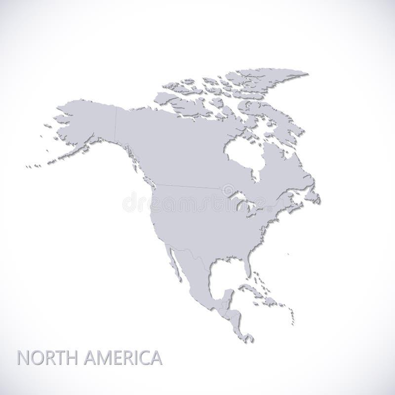 ameryka kontynentalna politycznej mapy na północ również zwrócić corel ilustracji wektora royalty ilustracja