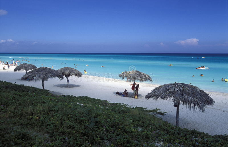 AMERYKA KUBA VARADERO plaża zdjęcia stock