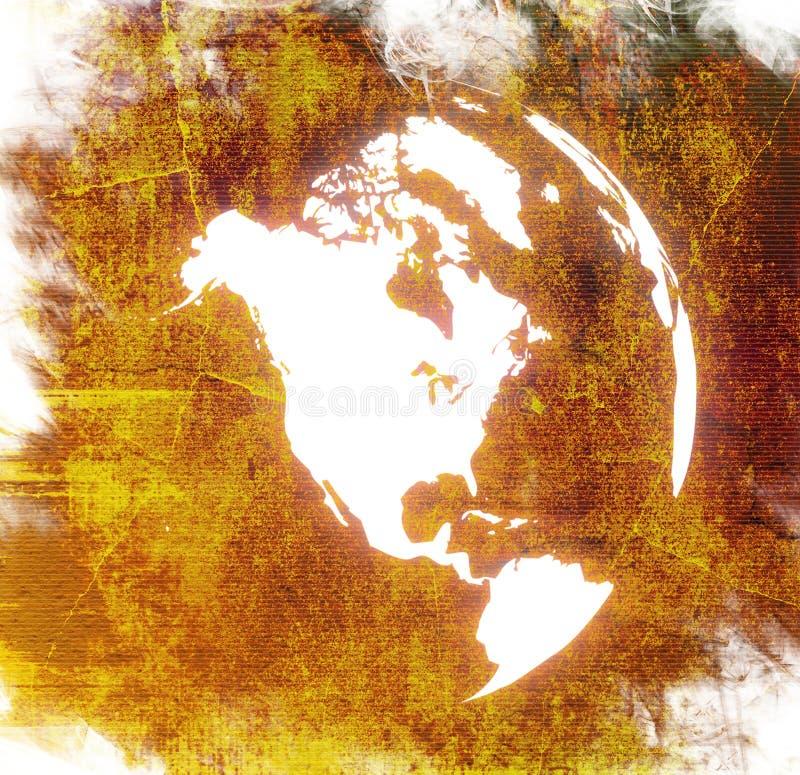 ameryka mapy świata royalty ilustracja