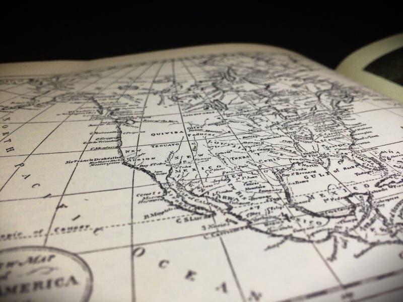 ameryka mapy na północ fotografia royalty free