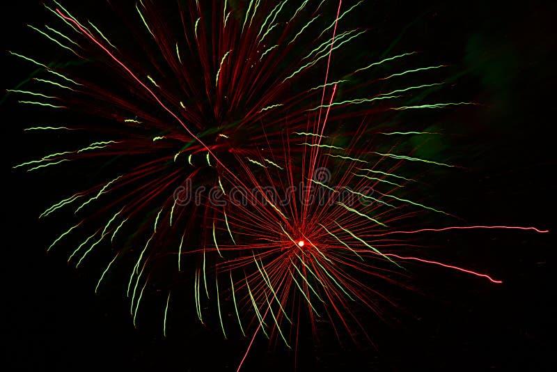 Ameryka miłość świętować z fajerwerkami zdjęcie stock