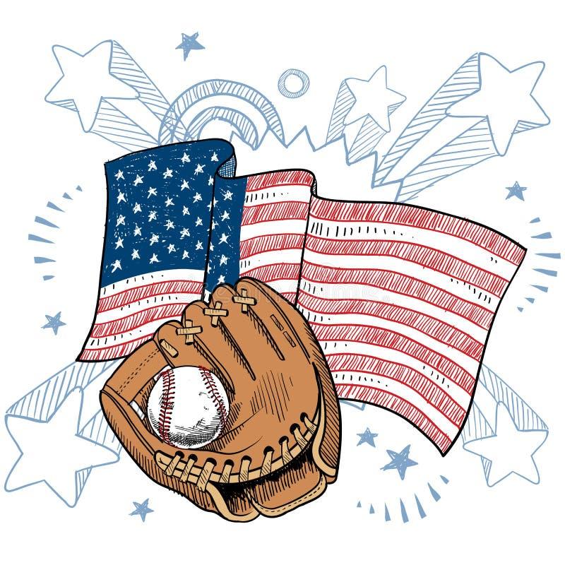 Ameryka miłość baseballa wektor ilustracja wektor
