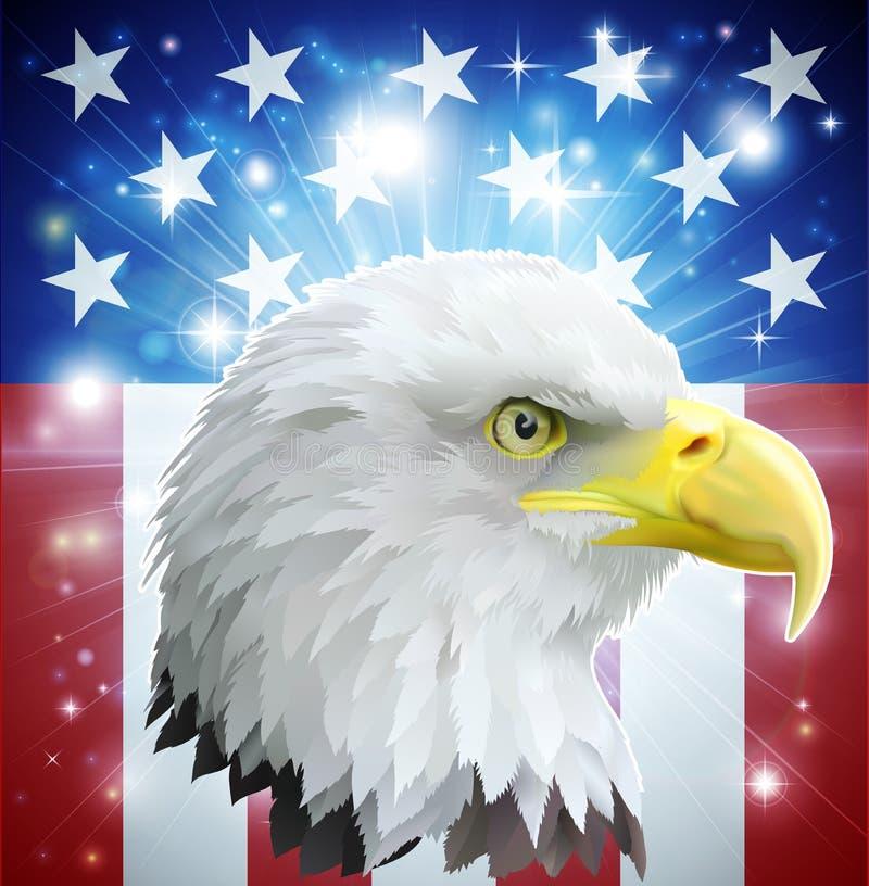 Ameryka orła flaga pojęcie ilustracji