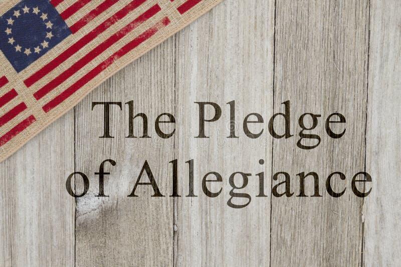 Ameryka patriotyczna wiadomość przyrzeczenie hołdownictwo zdjęcia stock