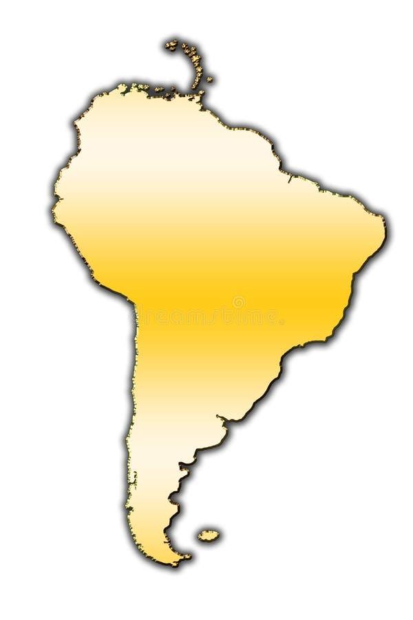Ameryka Południowa konturu mapa obrazy stock