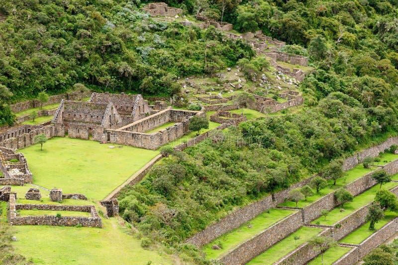 Ameryka Południowa, Peru -, inka Choquequirao ruiny fotografia stock