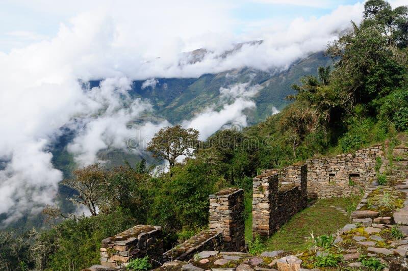 Ameryka Południowa, Peru -, inka Choquequirao ruiny zdjęcie stock