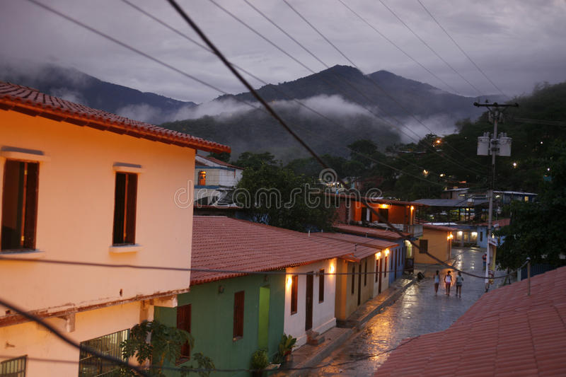 AMERYKA POŁUDNIOWA WENEZUELA CHUAO wioska zdjęcie stock