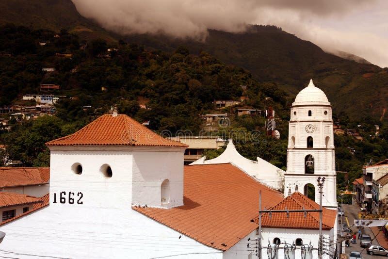 AMERYKA POŁUDNIOWA WENEZUELA TRUJILLO miasteczko zdjęcia royalty free