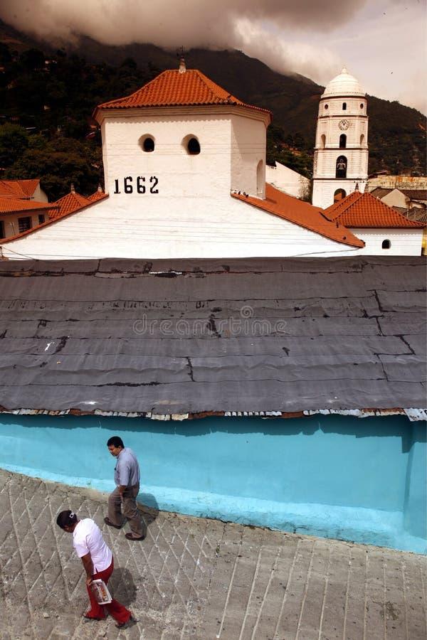 AMERYKA POŁUDNIOWA WENEZUELA TRUJILLO miasteczko obrazy royalty free