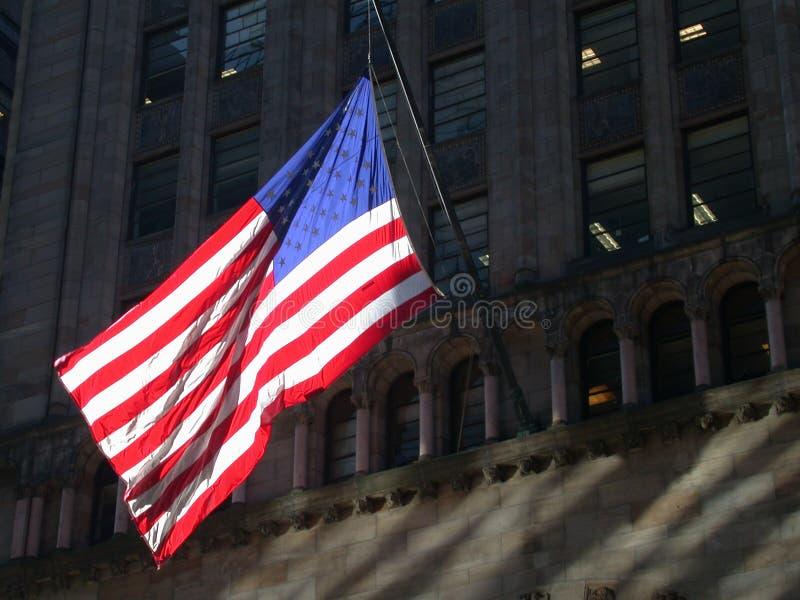 Amerykańska Flaga Miasta Nowy Jork Fotografia Stock