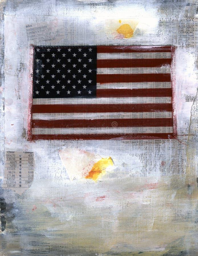 Amerykańska Flaga Sprawozdania Rynku Akcji Zdjęcie Stock