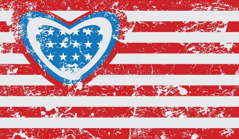 Download Amerykańska Grunge Flaga Fotografia Royalty Free - Obraz: 32843367